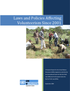 Laws and Policies Affecting Volunteerism Since 2001