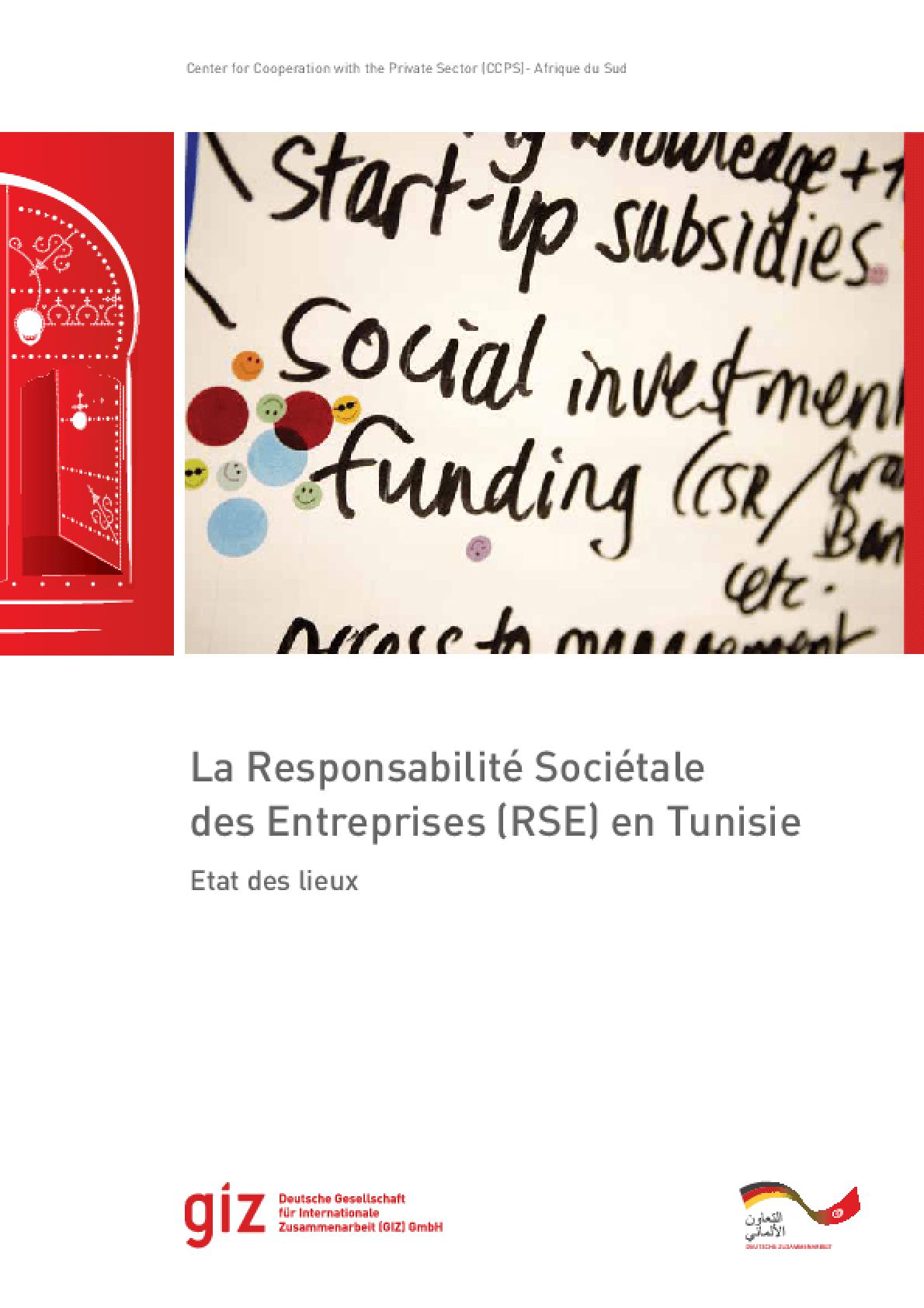 La Responsabilité Sociétale des Entreprises (RSE) en Tunisie: Etat des Lieux