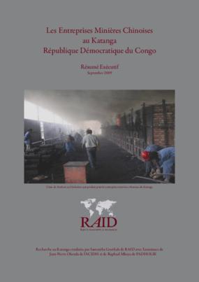 Les Entreprises Minières Chinoises au Katanga République Démocratique du Congo