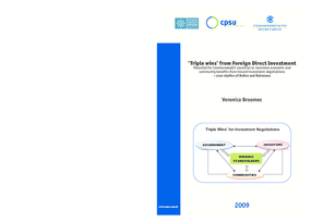 Triple Wins from Foreign Direct Investment: Potential for Commonwealth countries to maximise economic and community benefits from inward investments – case studies of Belize and Botswana