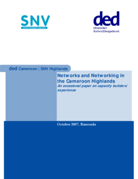 Networks and Networking in the Cameroon Highlands: An Occasional Paper on Capacity Builders' Experience
