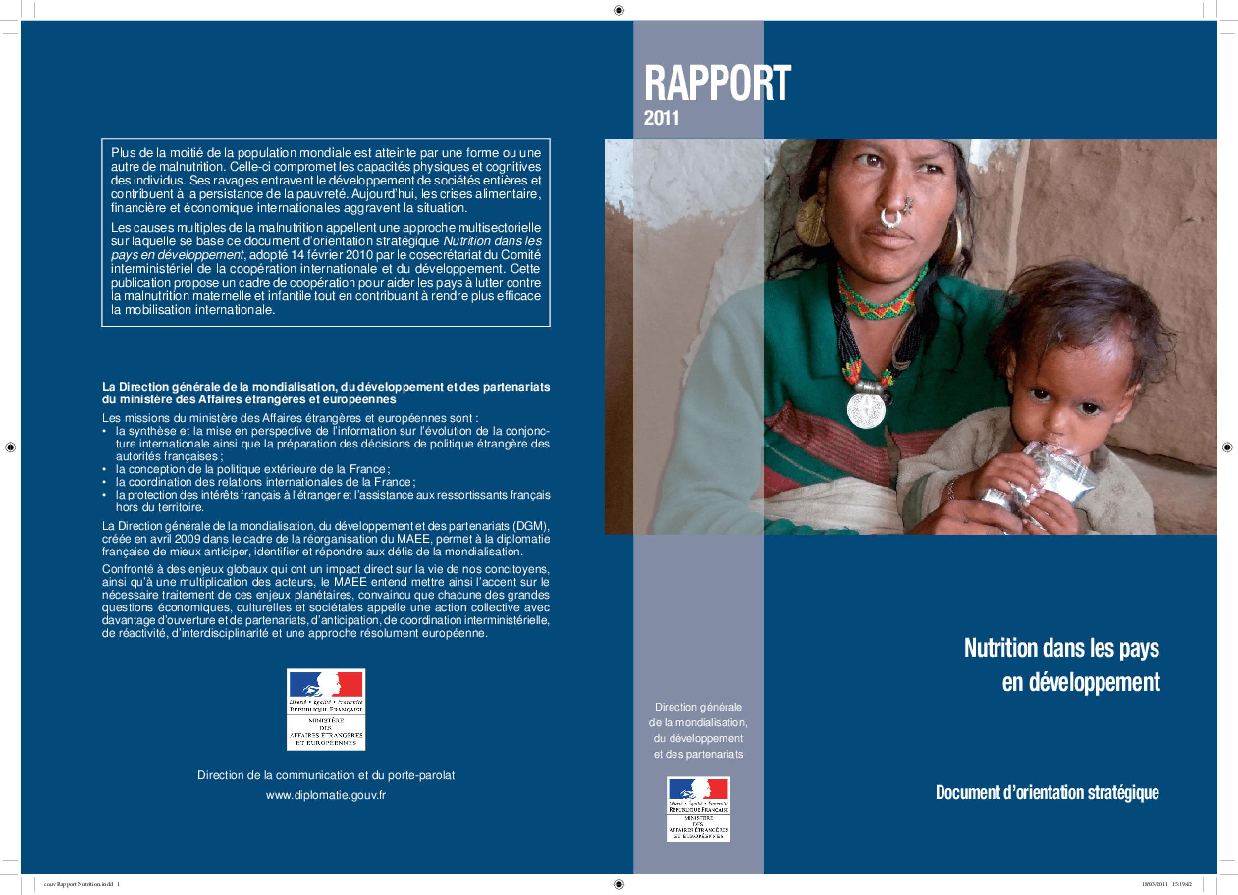 Nutrition Dans Les Pays en Développement
