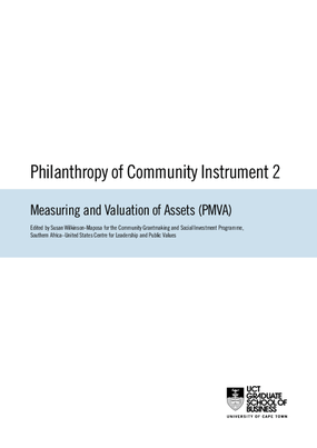 Philanthropy of Community Instrument 2: Measuring and Valuation of Assets (PMVA).