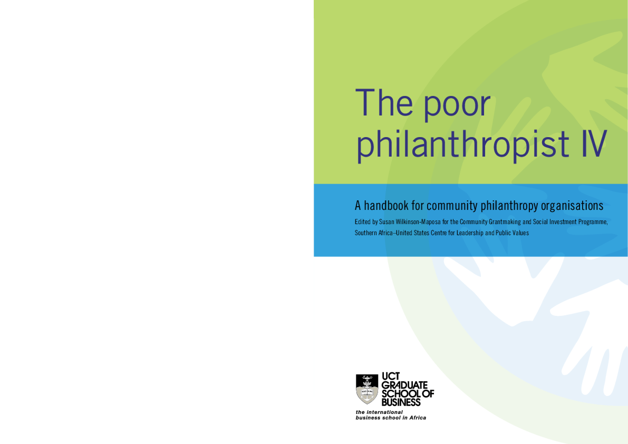 Poor Philanthropist IV: A Handbook for Community Philanthropy Organisations
