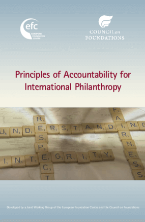 Principles of Accountability for International Philanthropy an Aspirational Tool for International Donors