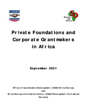 Private Foundations and Corporate Grantmakers in Africa