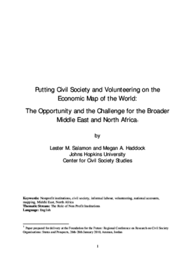 Putting Civil Society on the Map: The Opportunity and the Challenge for the Broader Middle East and North Africa (English)