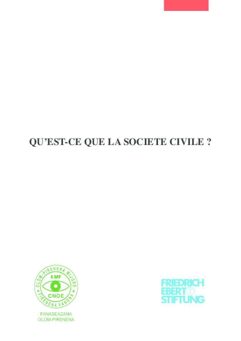Qu'est-ce Que la Société Civile?