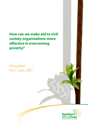 Re-inventing Civil Society Formations for More Effective Pro-poor Regional Policy Influencing in Southern Africa: A Quantitative Assessment of Progress in the Southern Africa Trust's Work Between Baseline Indicators and Results in 2010