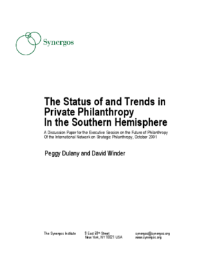 The Status of and Trends in Private Philanthropy in the Southern Hemisphere