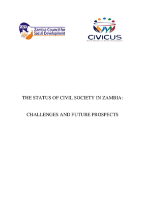 The Status of Civil Society in Zambia: Challenges and Future Prospects