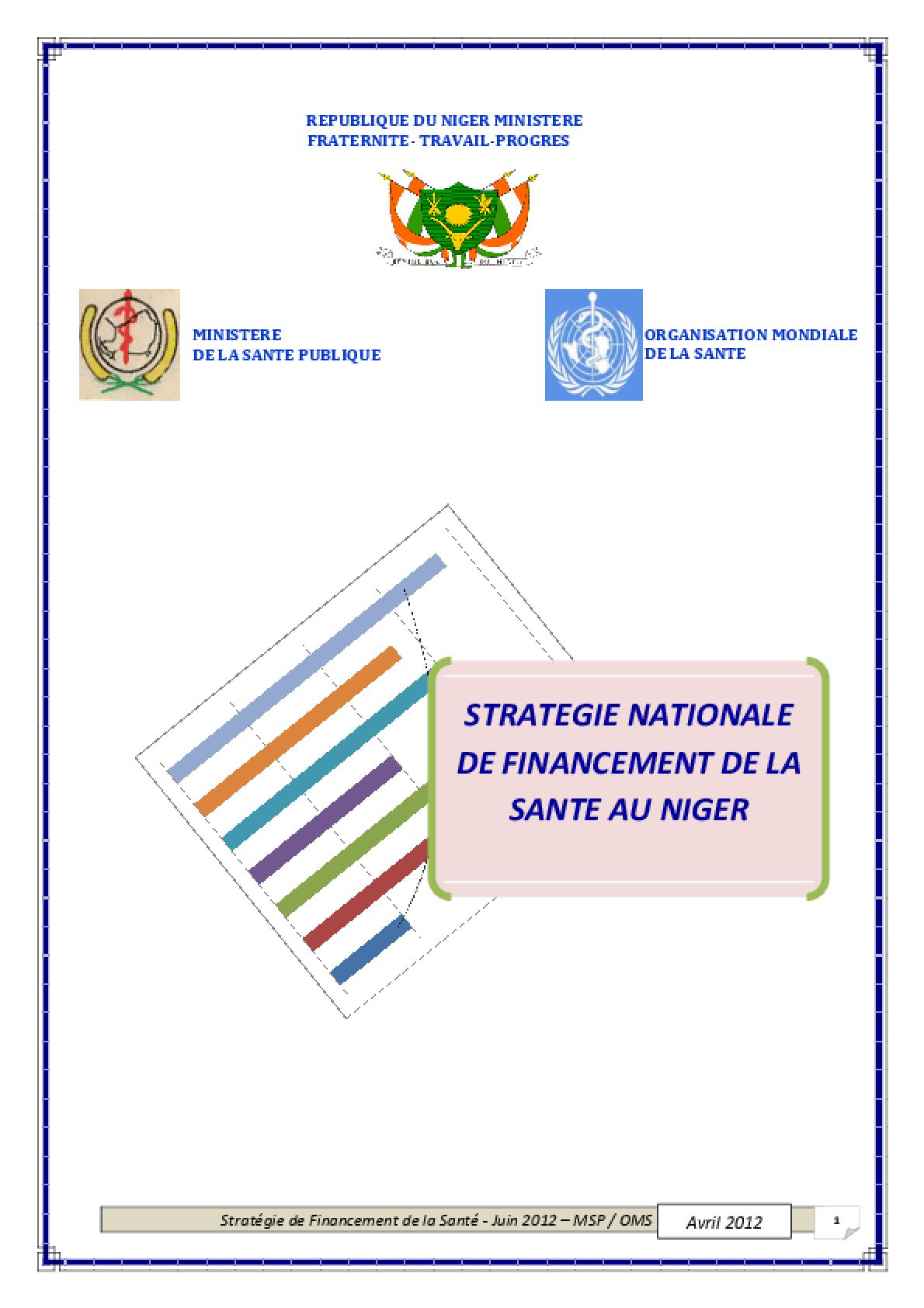 Stratégie Nationale de Financement de la Sante au Niger