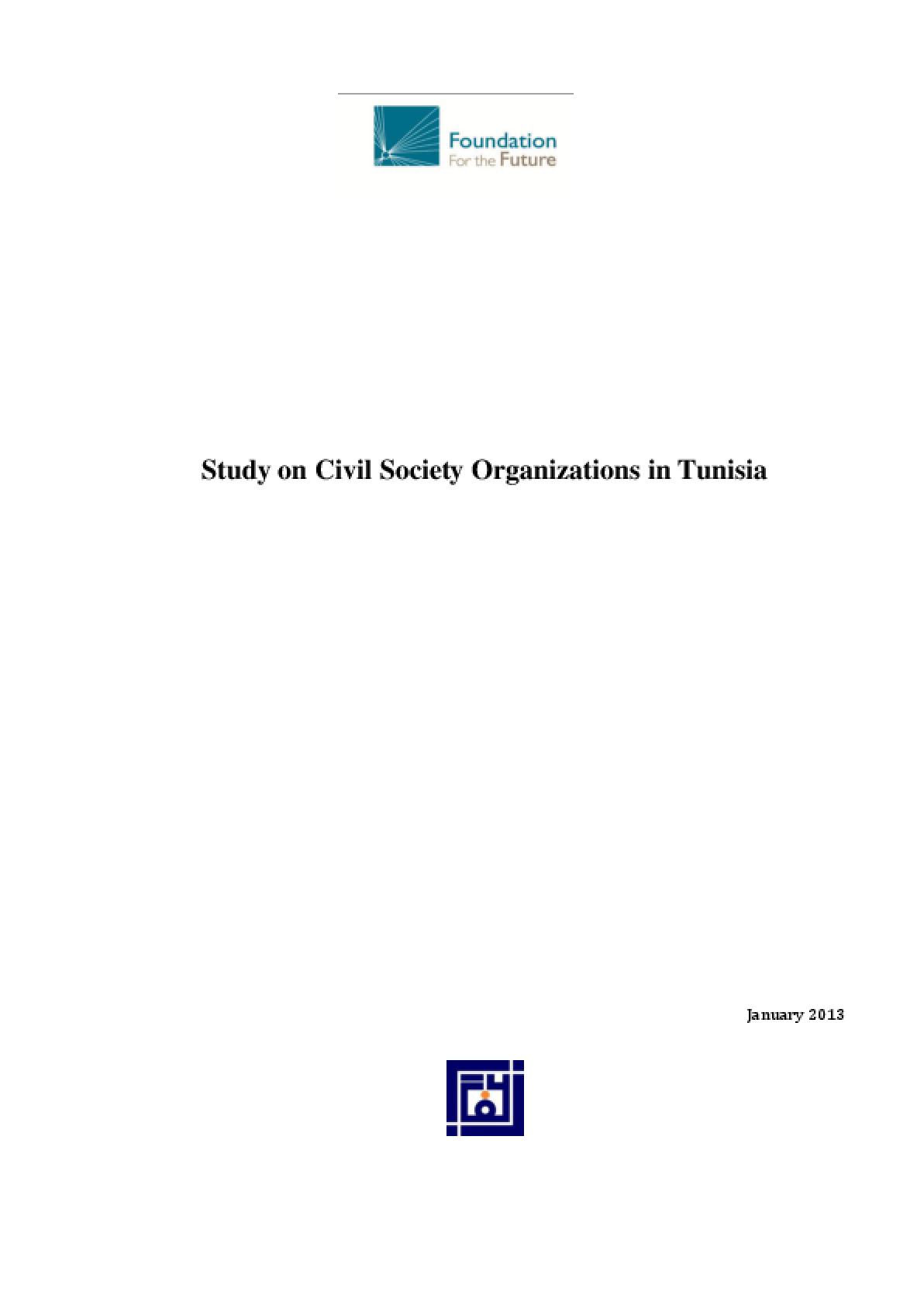Study on Civil Society Organizations in Tunisia