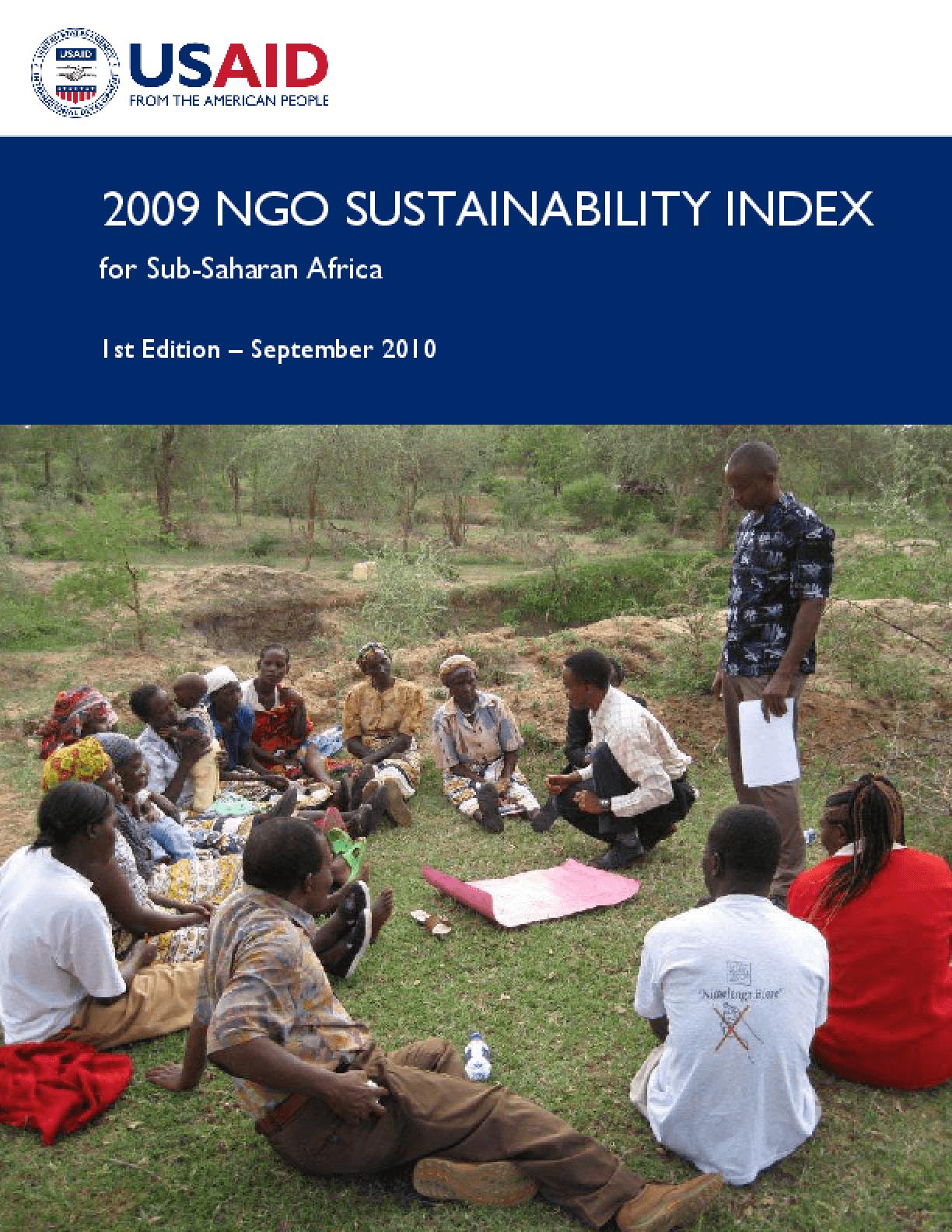 2009 NGO Sustainability Index, Sub-Saharan Africa