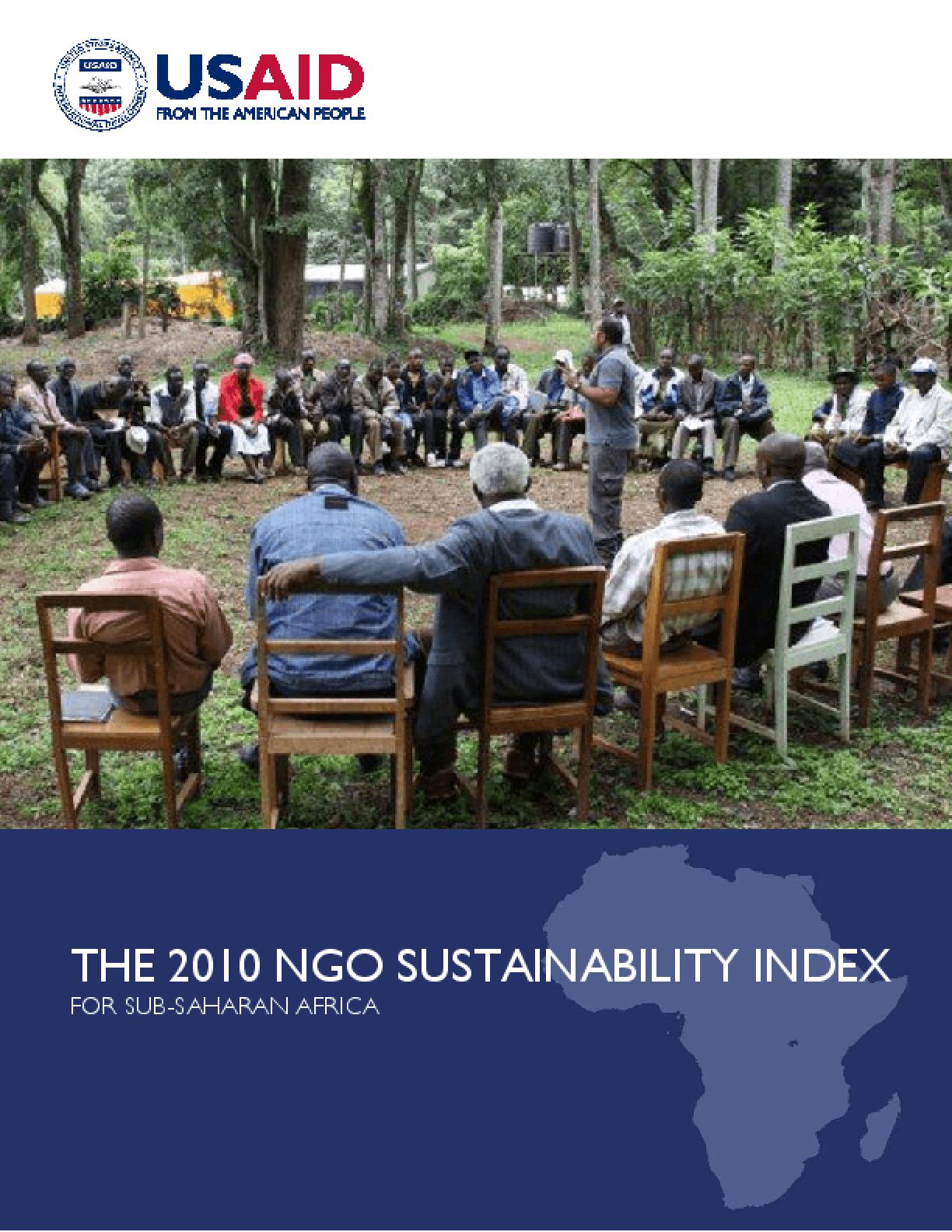 The 2010 NGO sustainability Index