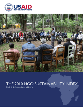The 2010 NGO sustainability Index