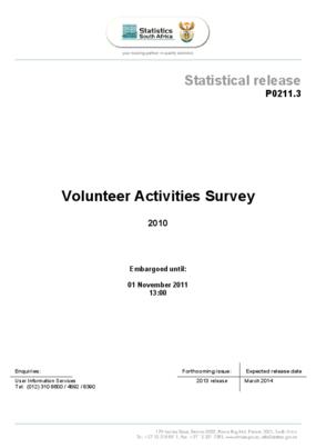 Volunteer Activities Survey 2010