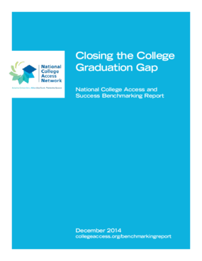 Closing the College Graduation Gap: National College Access and Success Benchmarking Report - December 2014