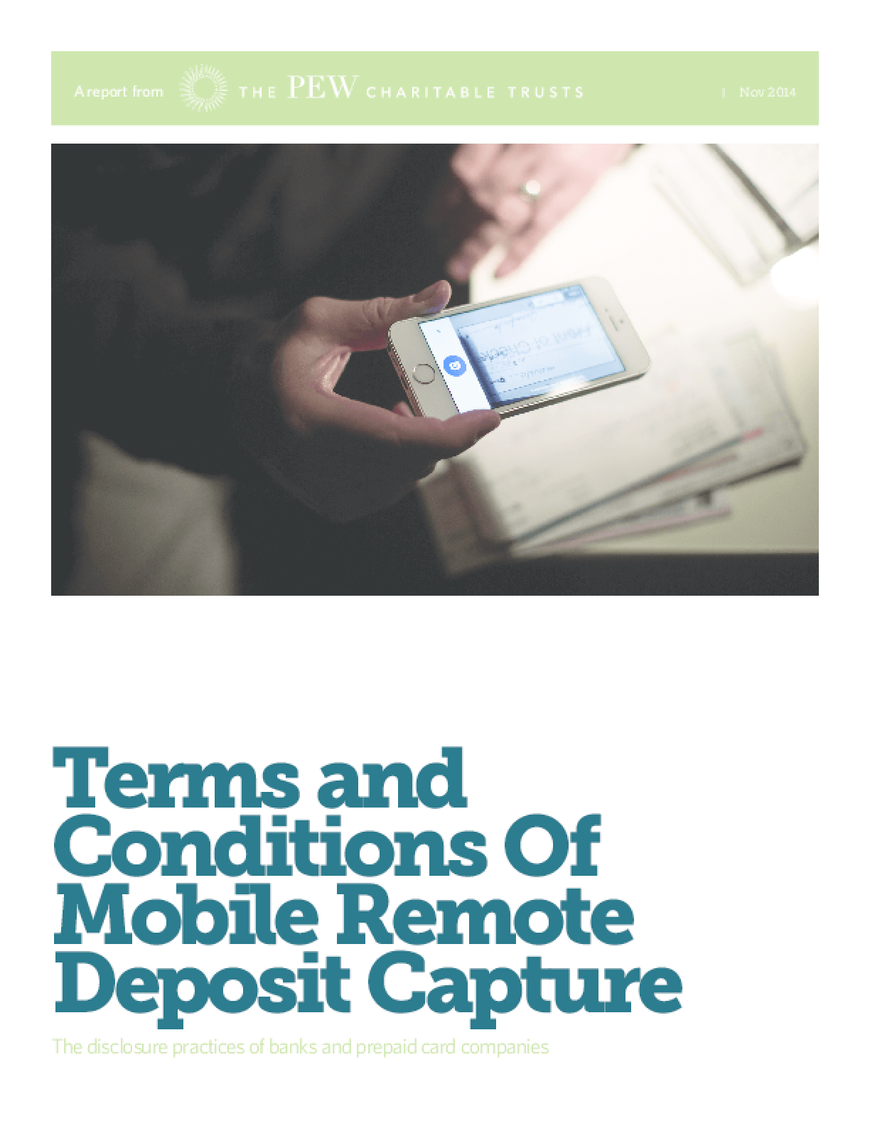 Terms and Conditions of Mobile Remote Deposit Capture: The Disclosure Practices of Banks and Prepaid Card Companies