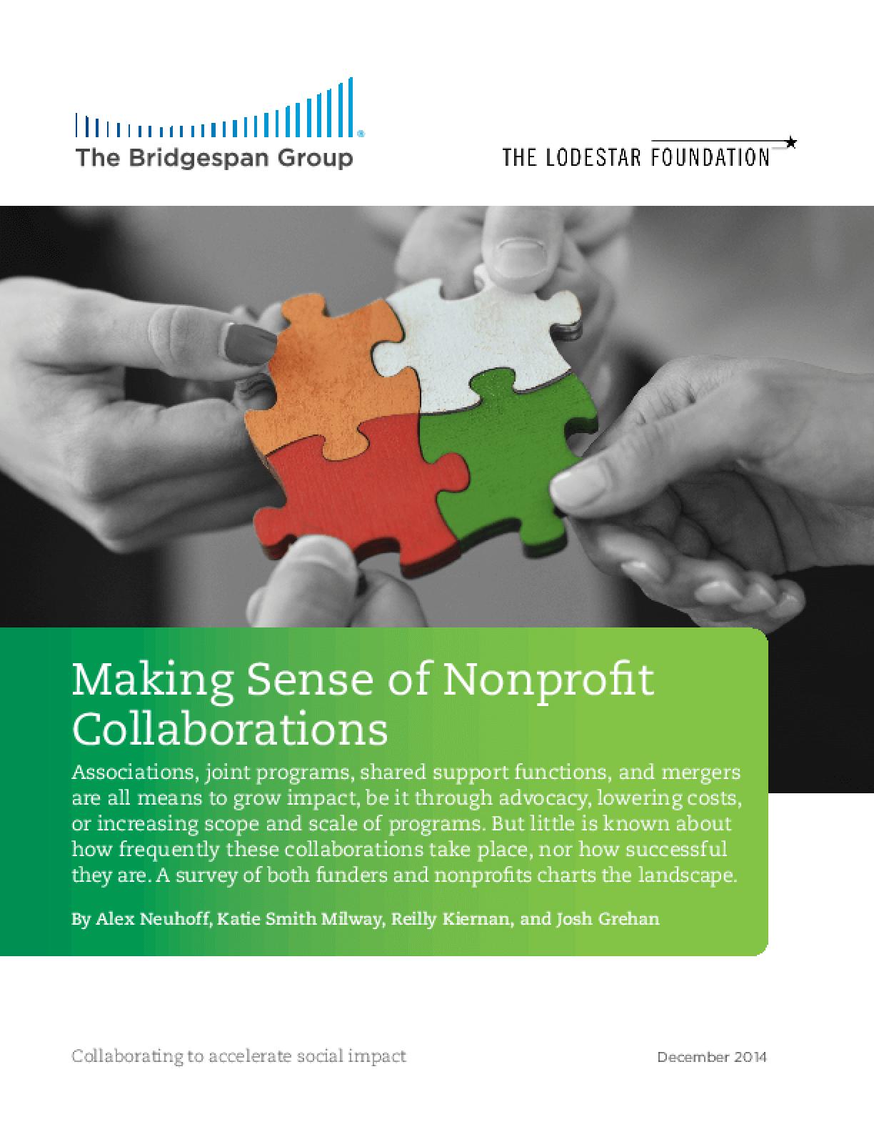 Making Sense of Nonprofit Collaborations