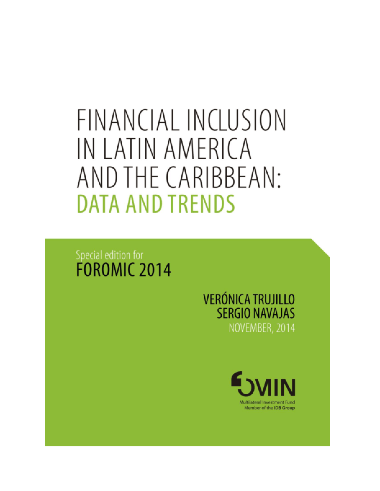 Financial Inclusion In Latin America and the Caribbean: Data and Trends