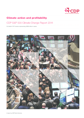 Climate Action and Profitability: CDP S&P 500 Climate Change Report 2014