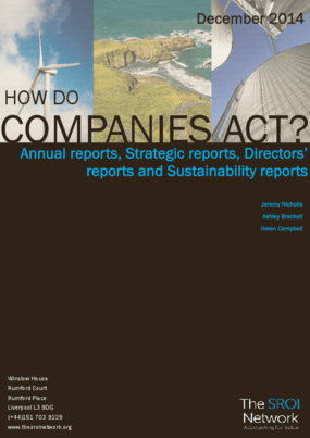 How Do Companies Act? Annual reports, Strategic reports, Director's reports and Sustainability reports