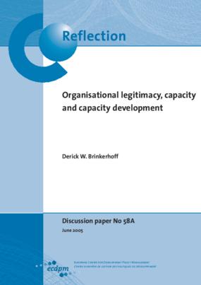 Organisational Legitimacy, Capacity and Capacity Development