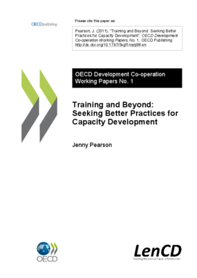 Training and Beyond: Seeking Better Practices for Capacity Development