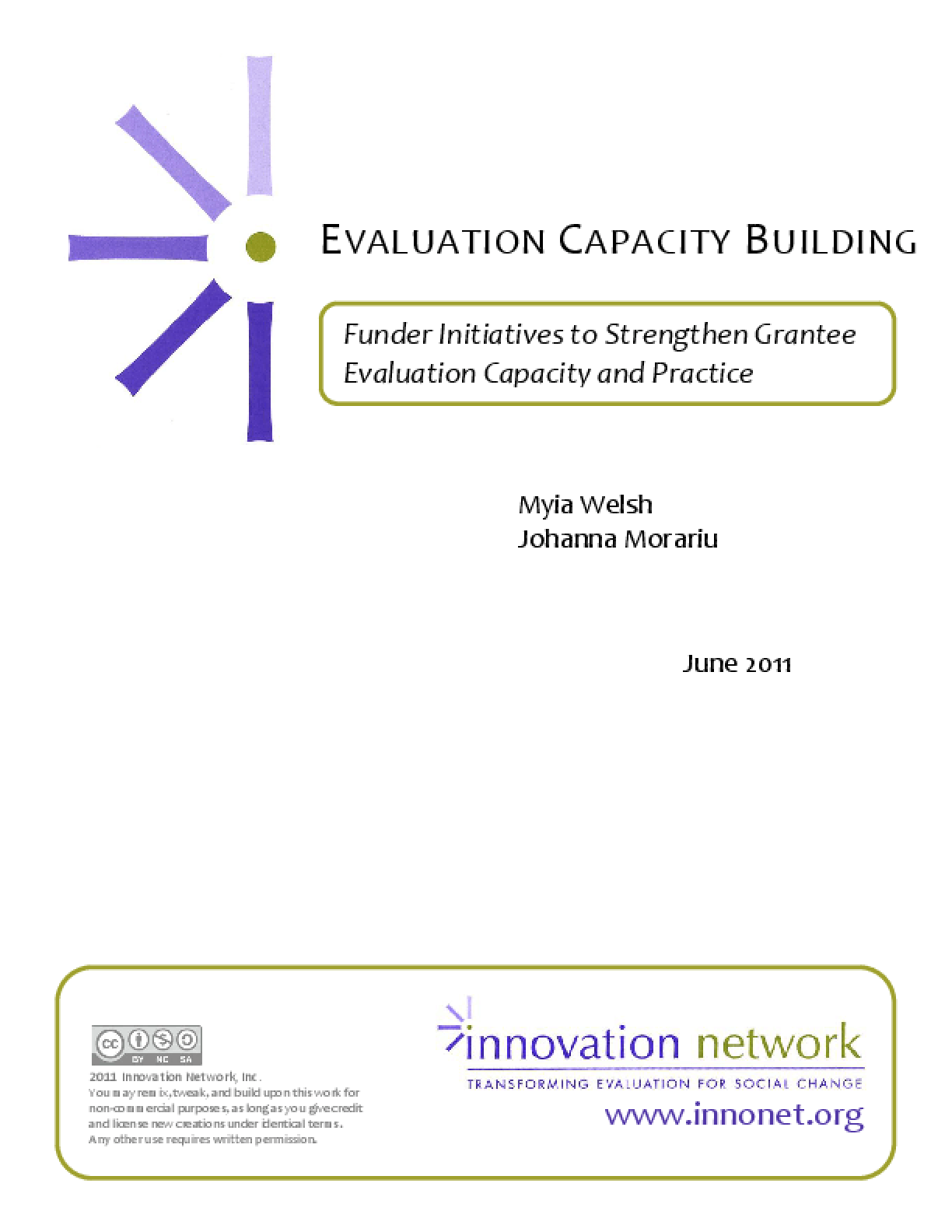 Evaluation Capacity Building: Funder Initiatives to Strengthen Grantee Evaluation Capacity and Practice
