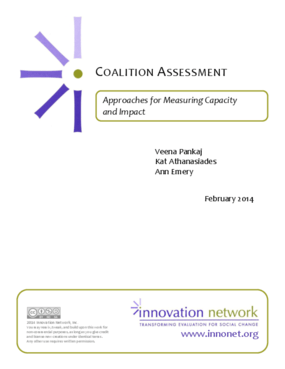 Coalition Assesment: Approaches for Measuring Capacity and Impact