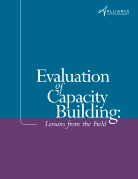 Evaluation of Capacity Building: Lessons from the Field