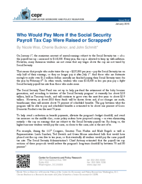 Who Would Pay More if the Social Security Payroll Tax Cap Were Raised or Scrapped?