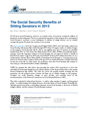 The Social Security Benefits of Sitting Senators in 2015