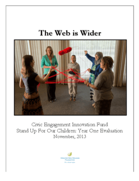 The Web is Wider: Civic Engagement Innovation Fund Stand Up For Our Children