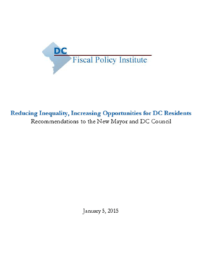 Reducing Inequality, Increasing Opportunities for DC Residents: Recommendations to the New Mayor and DC Council