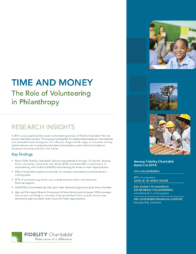 Time and Money: The Role of Volunteering in Philanthropy