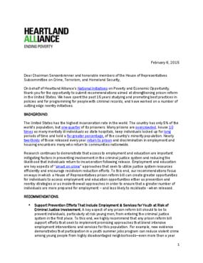 Prison Reform Recommendations 2015
