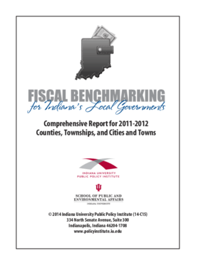 Fiscal Benchmarking for Indiana's Local Governments: Comprehensive Report for 2011-2012 Counties, Townships, and Cities and Towns