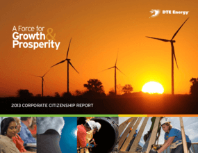 A Force for Growth and Prosperity: 2013 Corporate Citizenship Report