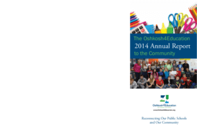 The Oshkosh4Education: 2014 Annual Report to the Community