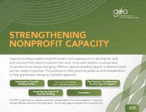Strengthening Nonprofit Capacity