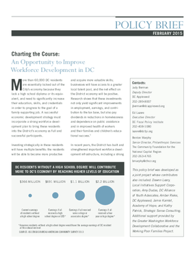 Charting the Course: An Opportunity to Improve Workforce Development in DC