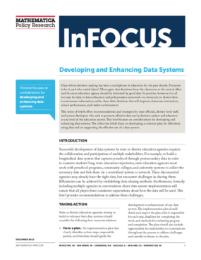 Developing and Enhancing Data Systems