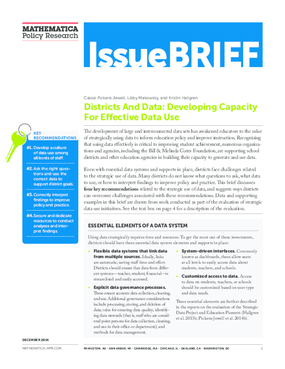 Districts and Data: Developing Capacity for Effective Data Use