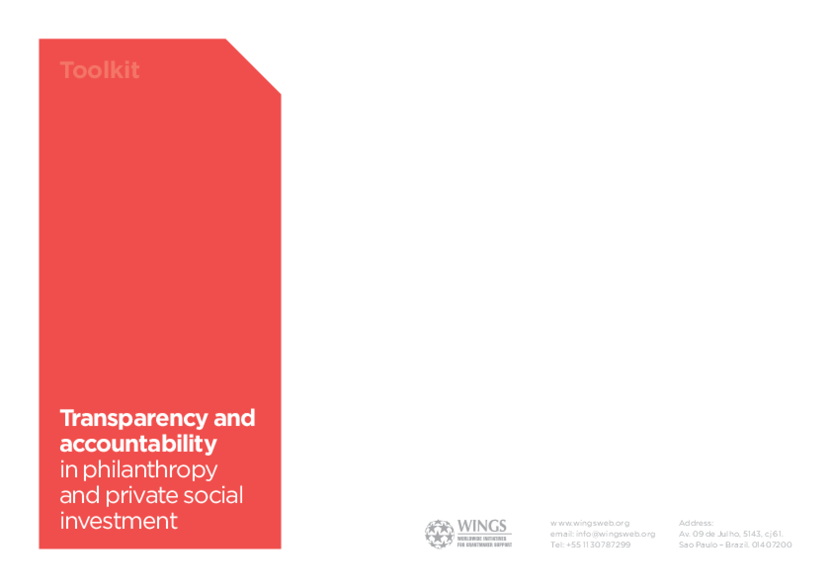 WINGS Transparency and Accountability Toolkit