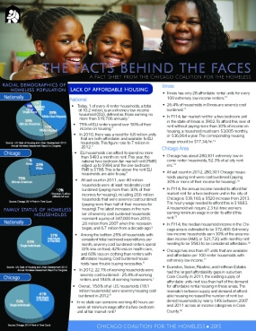 The Facts Behind the Faces: A Fact Sheet from the Chicago Coalition for the Homeless (2015)