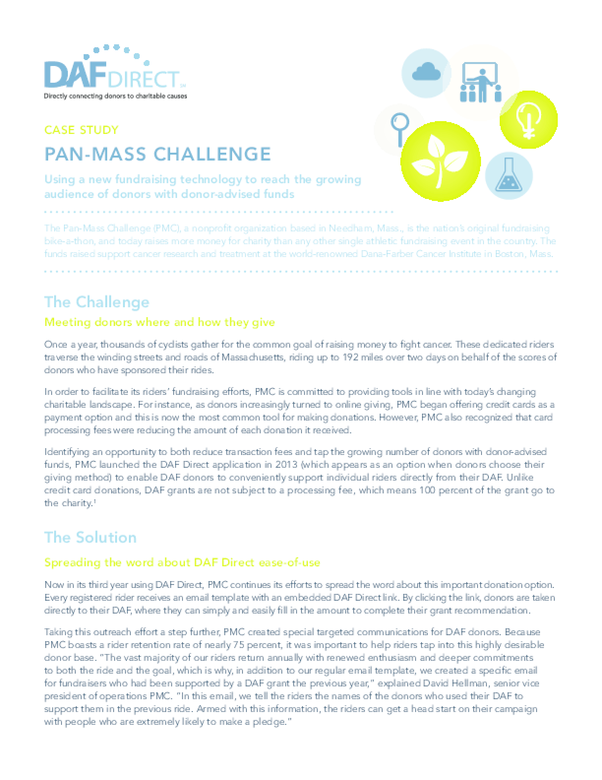Case Study: Pan-Mass Challenge