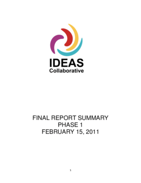 IDEAS Collaborative: Final Report Summary Phase 1