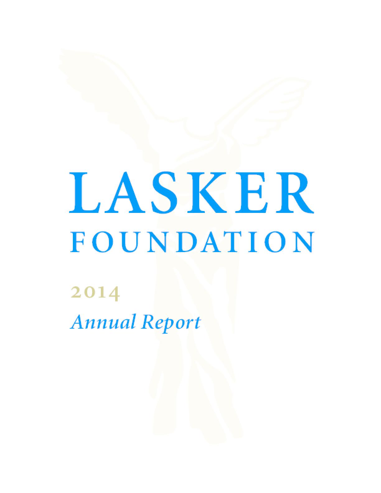 Lasker Foundation: 2014 Annual Report